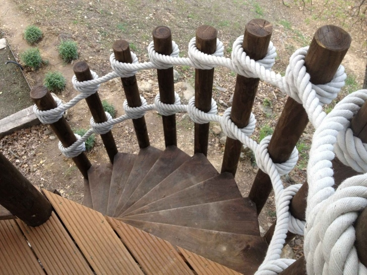 Wonderful Rope Handrail Outdoor Photo 586