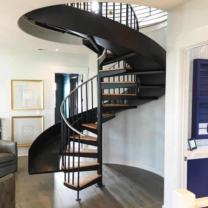 Wonderful Spiral Staircase With Slide Photo 683